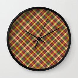 Scottish tartan #9 Wall Clock