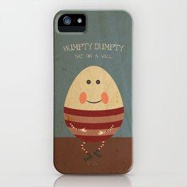 Humpty Dumpty. Children's Nursery Rhyme Inspired Artwork. iPhone Case