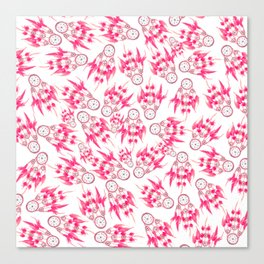Hipster pink vintage dreamcatcher pattern  Canvas Print
