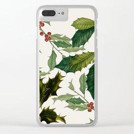 Ho Ho Holly Clear iPhone Case