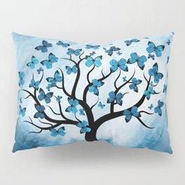 Butterfly Tree - Blue Marble Mist Pillow Sham