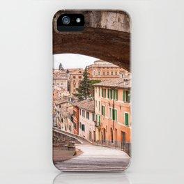 View of a 13th century acqueduct in Perugia, Umbria, Italy. iPhone Case