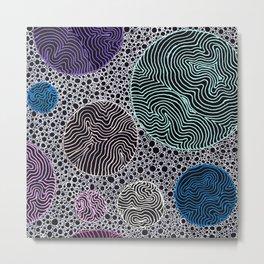 Abstract Patterned Circles Metal Print