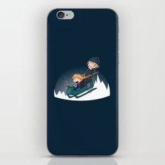 A Snowy Ride iPhone & iPod Skin