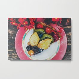 Fruit Cake Metal Print