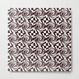 Chessboard melts Metal Print