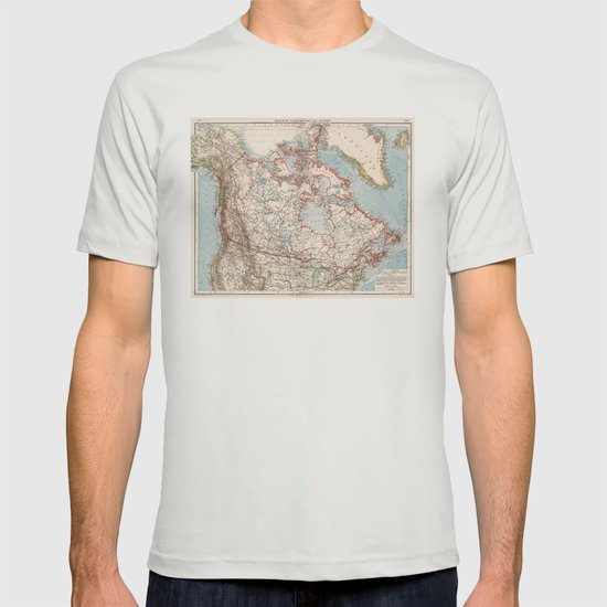 Map Of Canada 1905.Vintage Map Of Canada 1905 T Shirt By Bravuramedia Society6