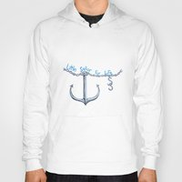 sam smith Hoodies featuring Sam Little Sailor by Annette Jimerson