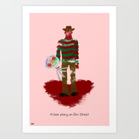 A Love Story on Elm Street Art Print