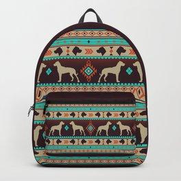 Boho dogs   Great dane sunset Backpack