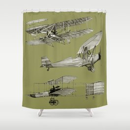 airplanes5 Shower Curtain