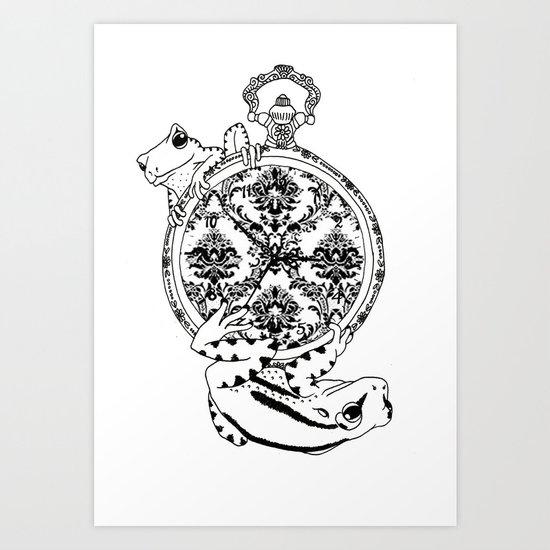 Frog Watch Art Print