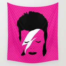 Ziggy Stardust - Pink Wall Tapestry