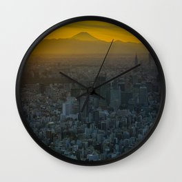 Tokyo Sunset Wall Clock