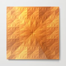 Golden Quilt Metal Print