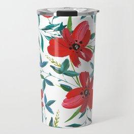 Red Blossom #society6 #decor #buyart Travel Mug