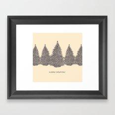white xmas Framed Art Print