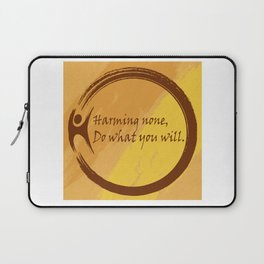 Harming None Do What You Will Color Background Laptop Sleeve