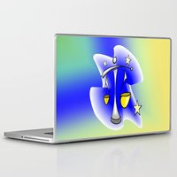 astrology Laptop & iPad Skins featuring Astrology, Aquarius by Karl-Heinz Lüpke