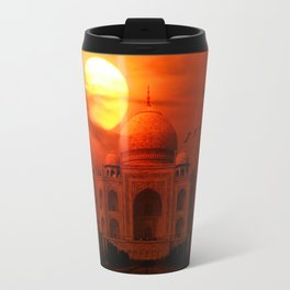 Taj Mahal Sunset Travel Mug