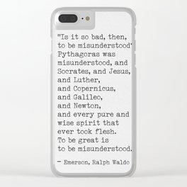 Emerson quote 9 Clear iPhone Case