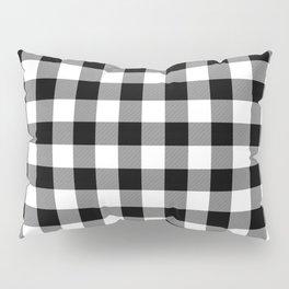 Jumbo Milkweed White and Black Rustic Cowboy Cabin Buffalo Check Pillow Sham