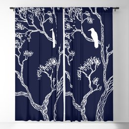 Crow in a tree Blackout Curtain