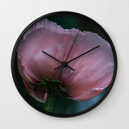 Makro_Mohnblüte_1 Wall Clock