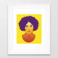 lana Framed Art Prints featuring Lana by Esther Cerga