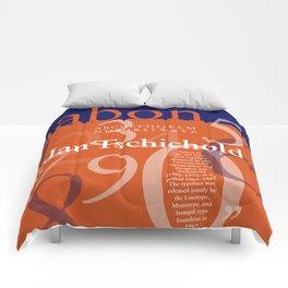 Sabon Typography Poster Comforters