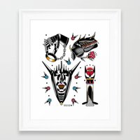 lotr Framed Art Prints featuring LOTR flash set by DerickJames