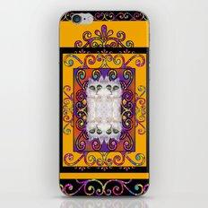 CAT ARABESQUE GYPSY SUNNY YELLOW iPhone & iPod Skin