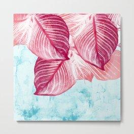 Tropical Canna Leaves  Metal Print