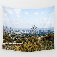 los angeles Wall Tapestries featuring Los Angeles by youngkinderhook