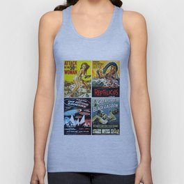 50s Sci-Fi Movie Poster Collage #14 Unisex Tank Top
