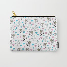 Unicorns and Pegasus and Hearts Carry-All Pouch