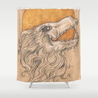 phoenix Shower Curtains featuring Phoenix by Ashley Hull