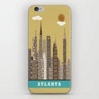 atlanta iPhone & iPod Skins featuring Atlanta city vintage by bri.buckley