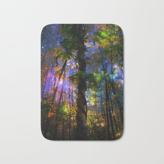 Forest of the Fairies Night Bath Mat