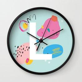 L Monogram Wall Clock