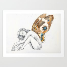 Buckeye Fairy Art Print