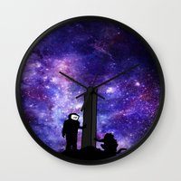 2001 Wall Clocks featuring 2001: A Space Odyssey  by Joshua S