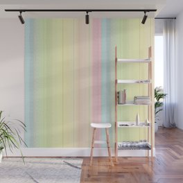Jiggle Stripes - Pastels Glimmer Rainbow Wall Mural