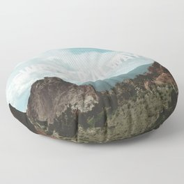 Wander Always - Mountains Floor Pillow