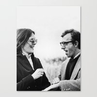 annie hall Canvas Prints featuring ANNIE HALL by Coco Dávez
