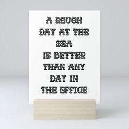 A Rough Day At The Sea Mini Art Print