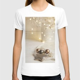 Merry Christmas- Festive Shiny Winter Stilllife T-shirt