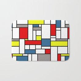 Mondrian style pattern Bath Mat
