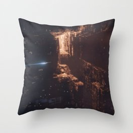 Dark City Throw Pillow