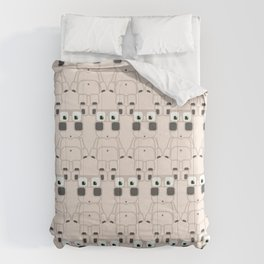 Super cute cartoon white pig - bring home the bacon with everything for the pig enthusiasts! Comforters